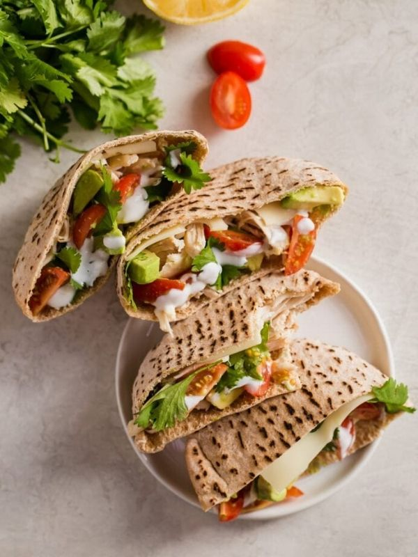 Chicken Avocado Pita Sandwich
