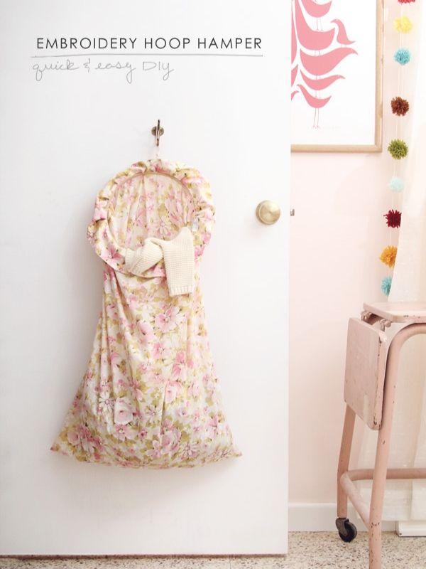 Embroidery Hoop Hamper