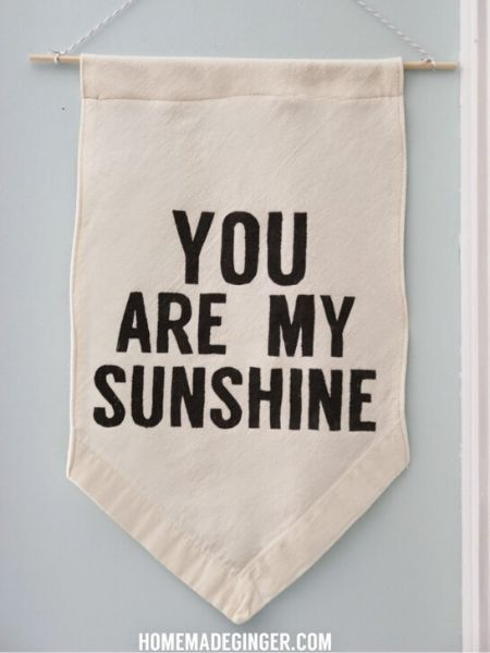 Banner with You Are My Sunshine Quote