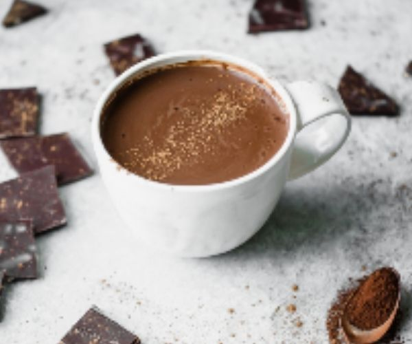 A cup of delicious hot chocolate