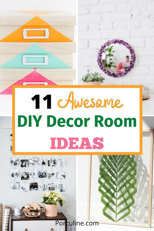 11 Awesome DIY Room Decor Ideas Pinterest Post