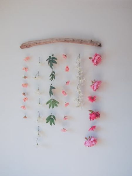 Decorative flower hanging on a wall