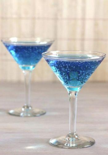Two Glasses Of Blue Shoe Mocktails