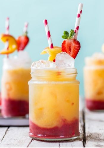 Roasted peach and Strawberry Drink