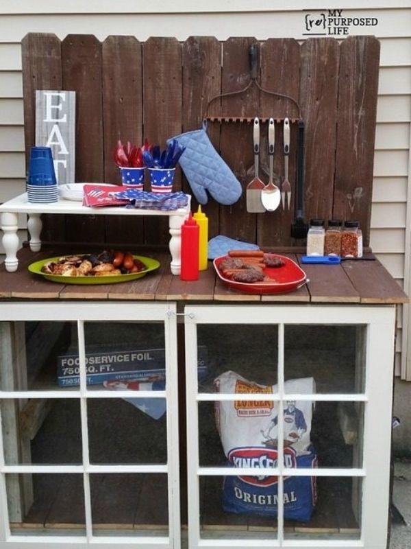 DIY Outdoor Buffet