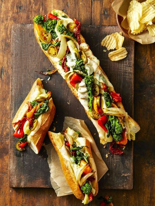 Provolone Veggie Party Subs