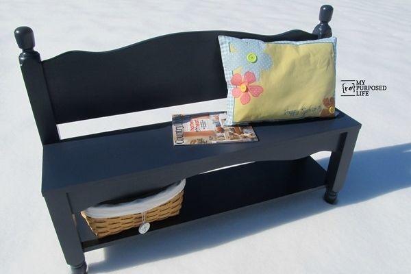 Twin Headboard Bench With Shelf