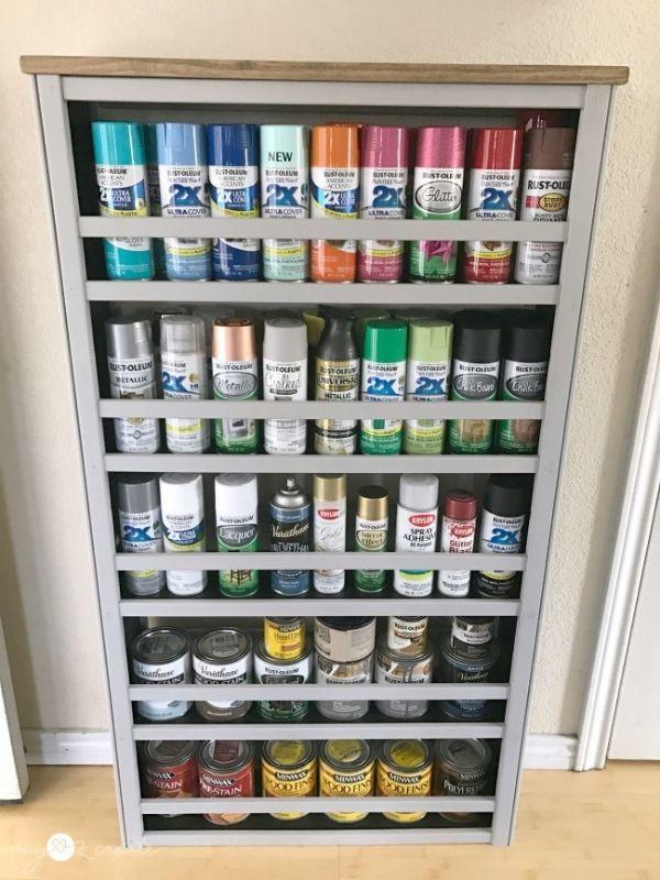 Repurposed Crib Paint Shelf