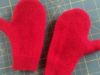 Red sweater mittens
