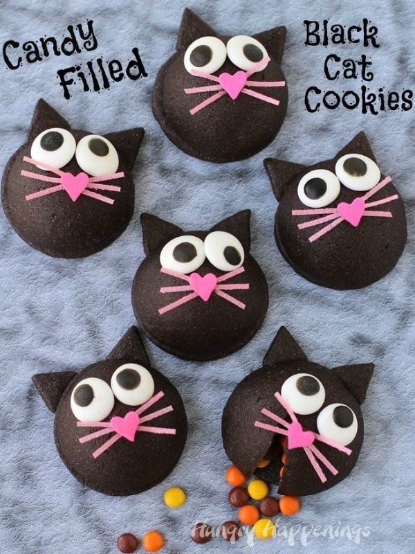 Candy filled Black Cat Cookies