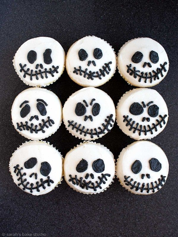 Jack Skeleton Cupcakes