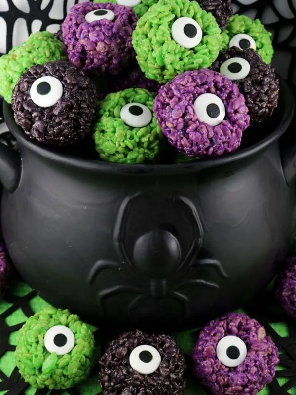 Monster Eyeballs Rice Krispie Bites