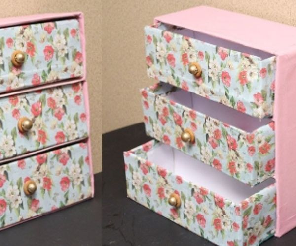 A Storage Made From Shoebox