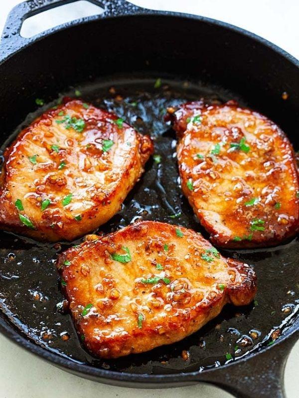 Honey Garlic Boneless Pork Chops