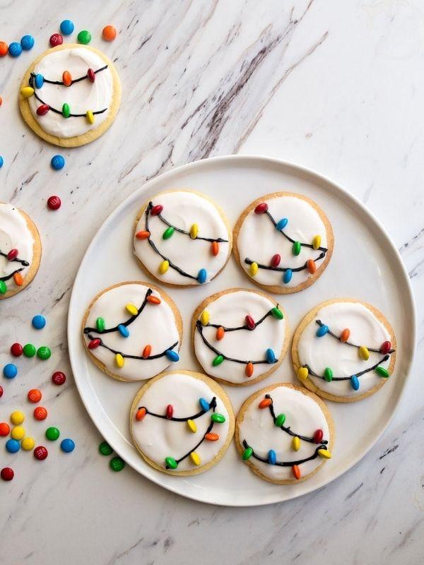 Christmas Light Cookies