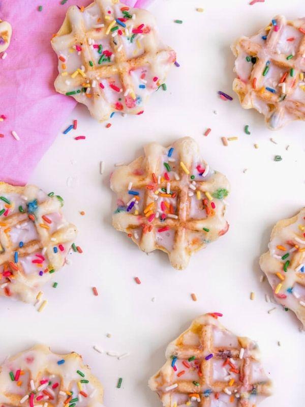 Confetti Waffle Cookies