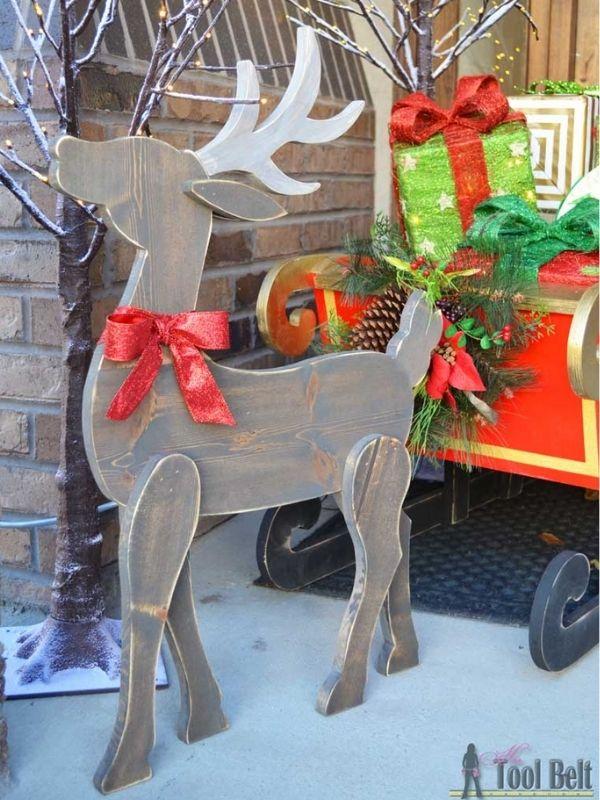 DIY Wood Reindeer