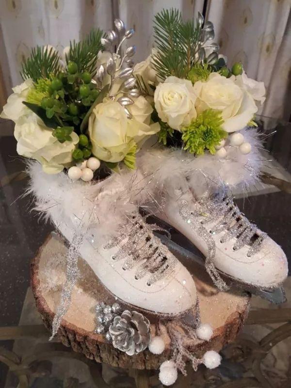 Ice Skate Winter Centerpiece