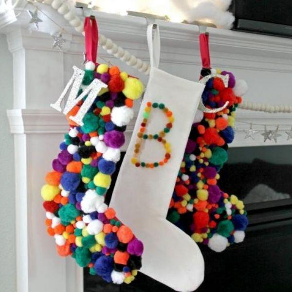 Pompom Christmas Stocking