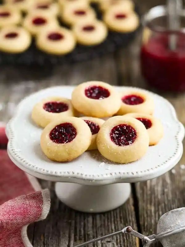 Vegan Thumbprint Cookies with Raspberry Jam