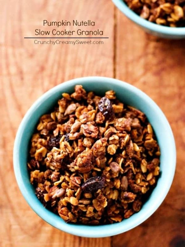 Nutella Pumpkin Slow Cooker Granola Recipe
