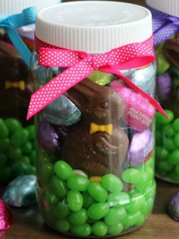 Easter Candy Mason Jar