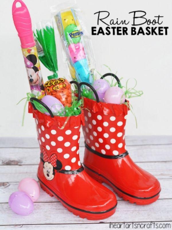 Rain Boot Easter Basket