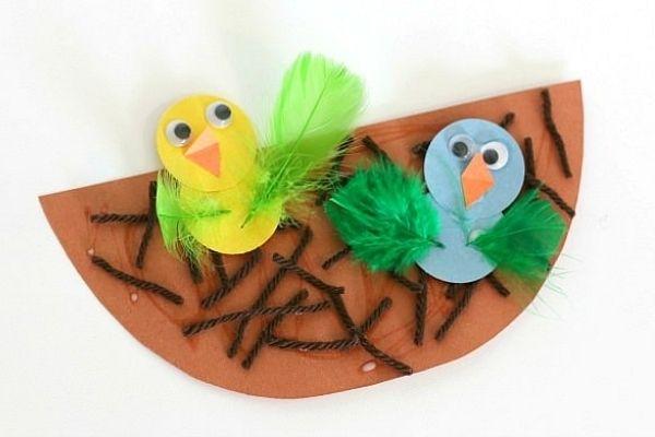 Baby Bird and Nest Craft