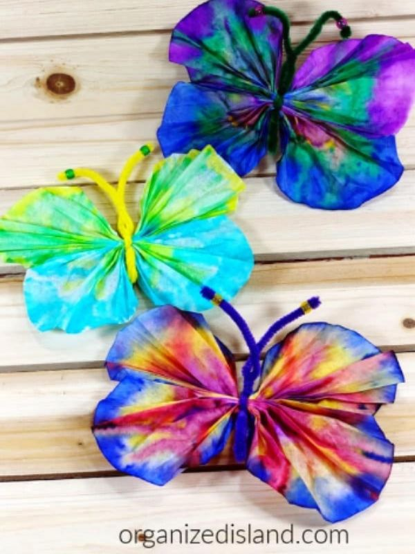 Coffee Filter Butterfly Crafts