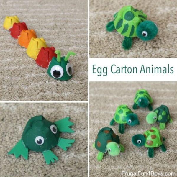 Egg Carton Animal Crafts