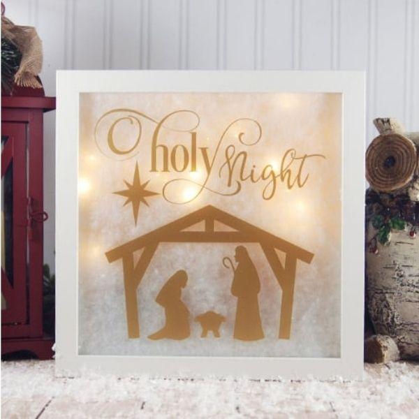 Lighted Christmas Shadow Box