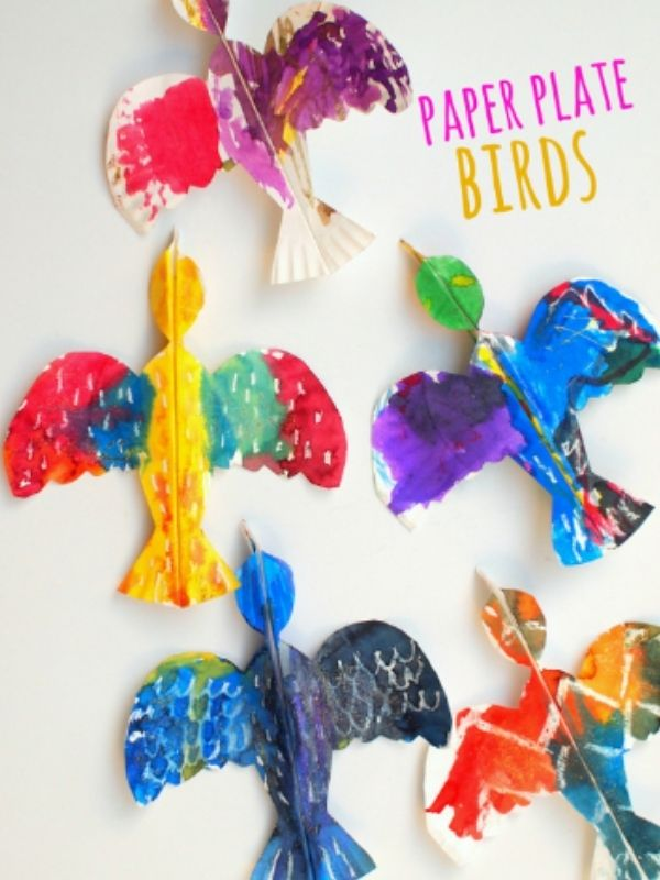 Paper Plate Bird Crafts