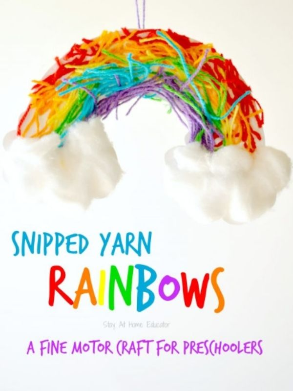 Snipped Yarn Rainbow Craft