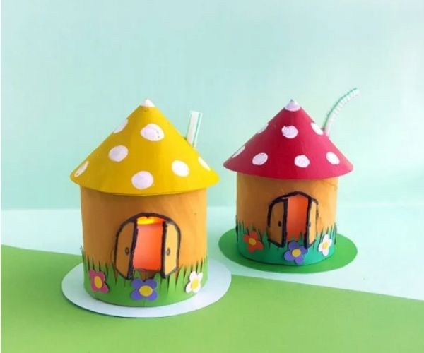 Toadstool House Lantern Craft