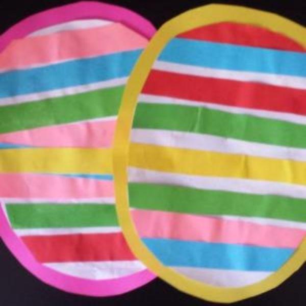 Toddler Striped Easter Egg Crafts