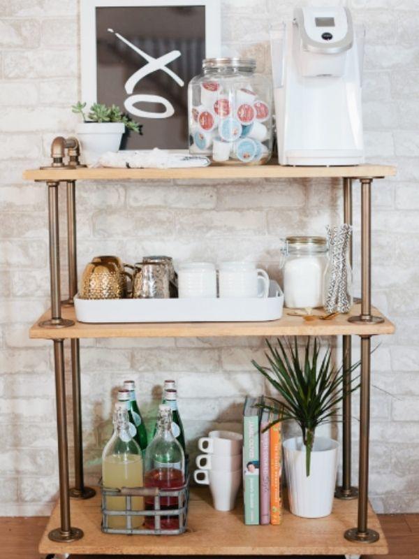 Classic DIY Coffee Bar Cart