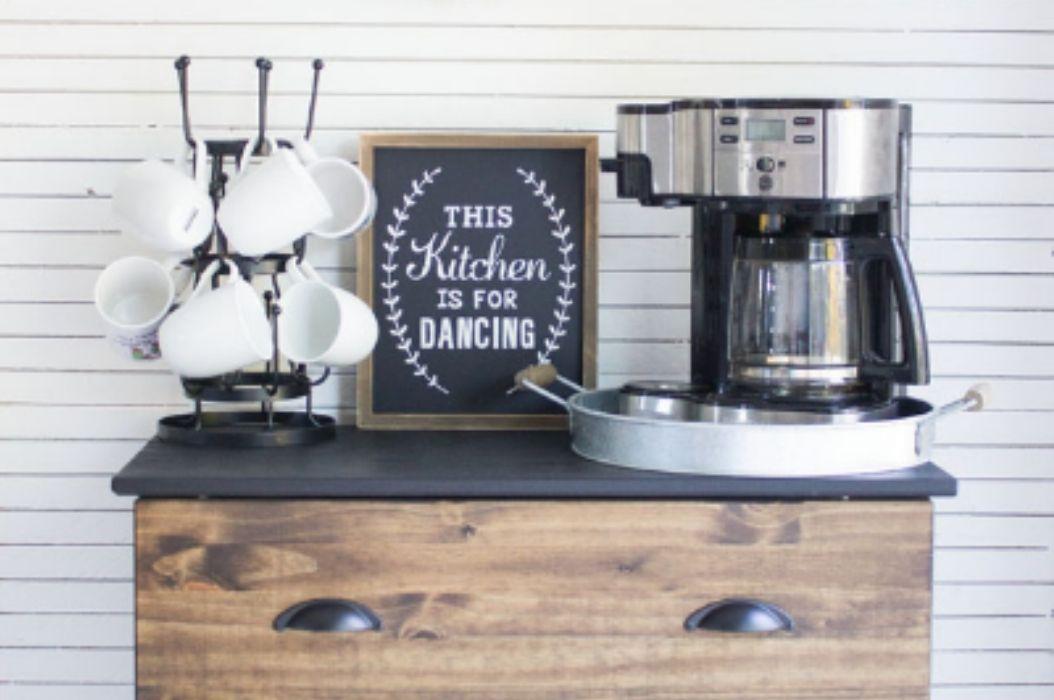 DIY Coffee Bar Table Ideas