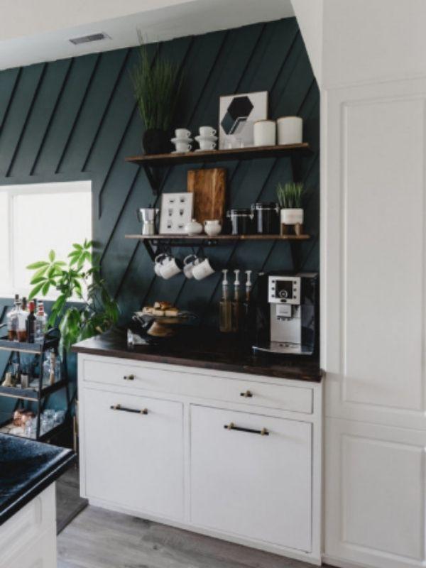 DIY Modern Coffee Bar Table