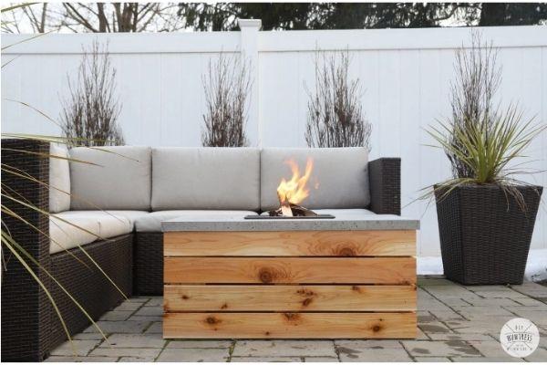 DIY Concrete Coffee Table Firepit