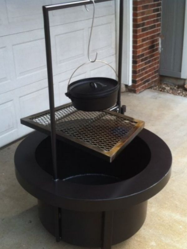 DIY Fire Pit Grill