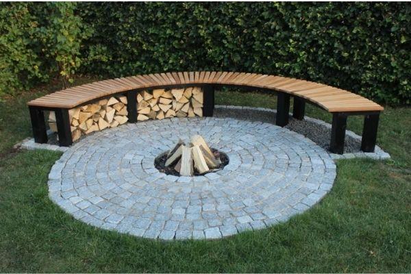 DIY Garden Fireplace Fire Pit