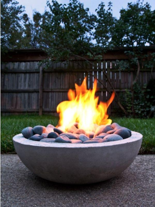 DIY Modern Concrete Fire Pit Bowl