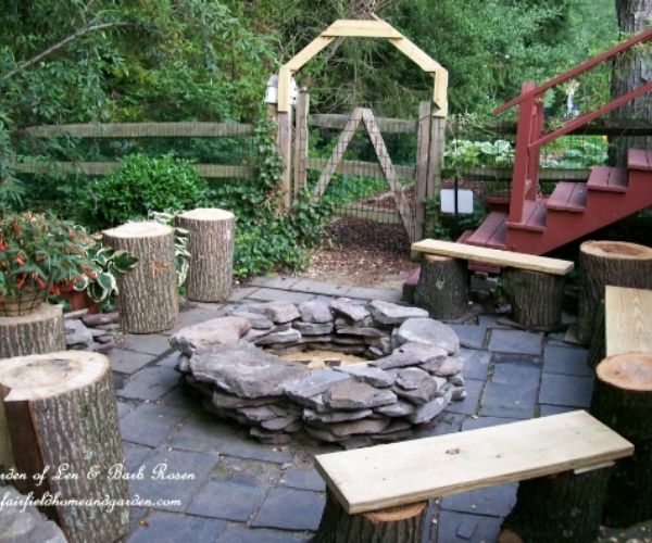 DIY Stacked Stone Fire Pit