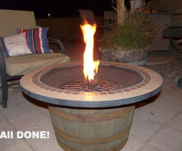 DIY Whiskey Fire Pit
