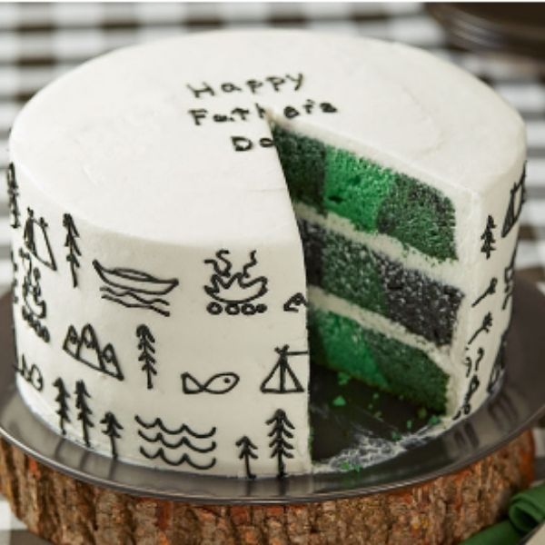 Flannel-Inspired Cake