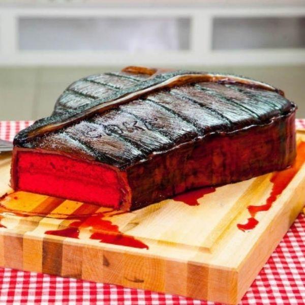 Red Velvet Steak Cake