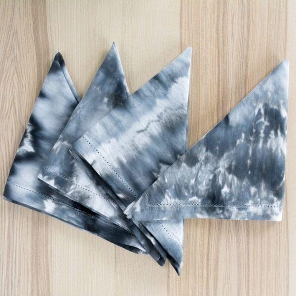 Black Ice Dye Napkins