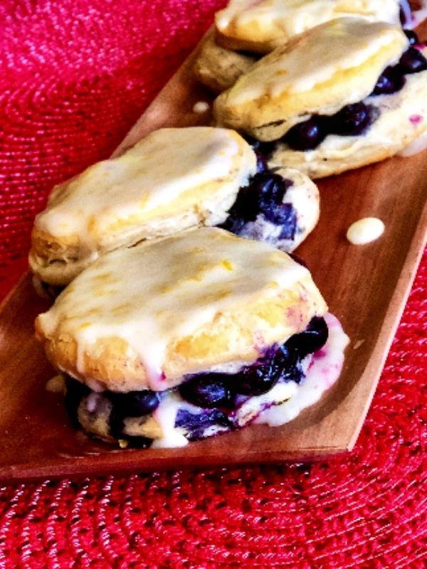 Blueberry Lemon Breakfast Biscuits