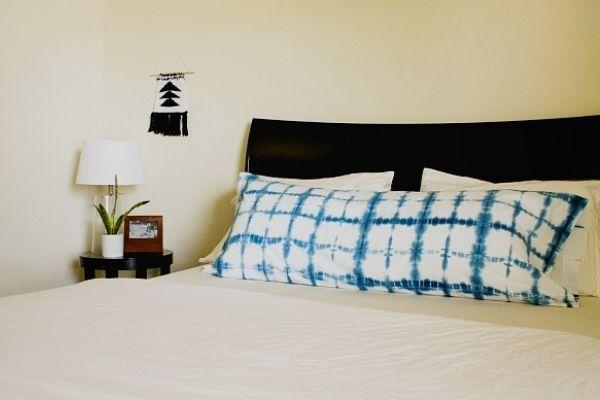 DIY Indigo Shibori Pillow