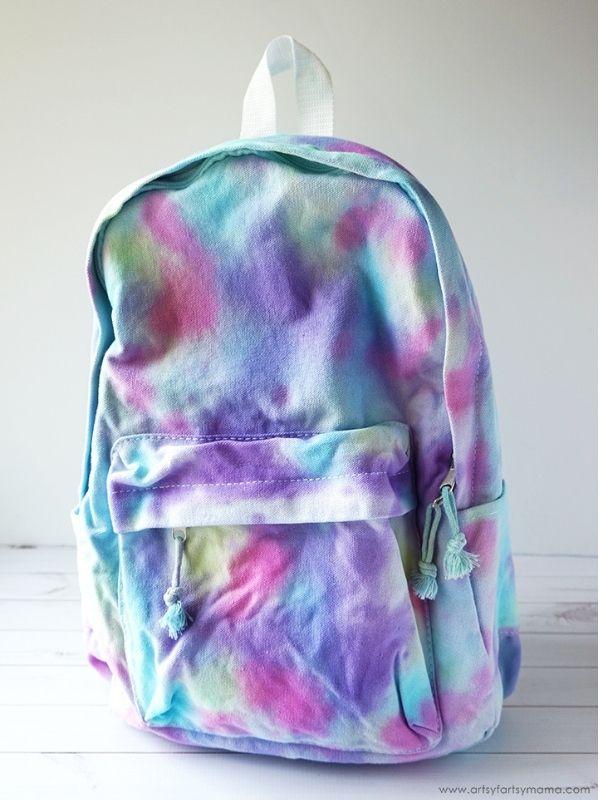 DIY Tie Dye Backpack
